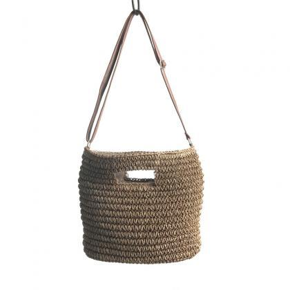 Straw Bag Woven Handbags Shoulder M..