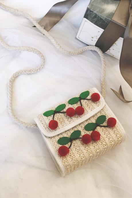 Small Bag Women 2019 Beach Bag Straw Braided Bag Heart Woven Bag